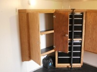 Custom Cabinet with Built in Tool Box