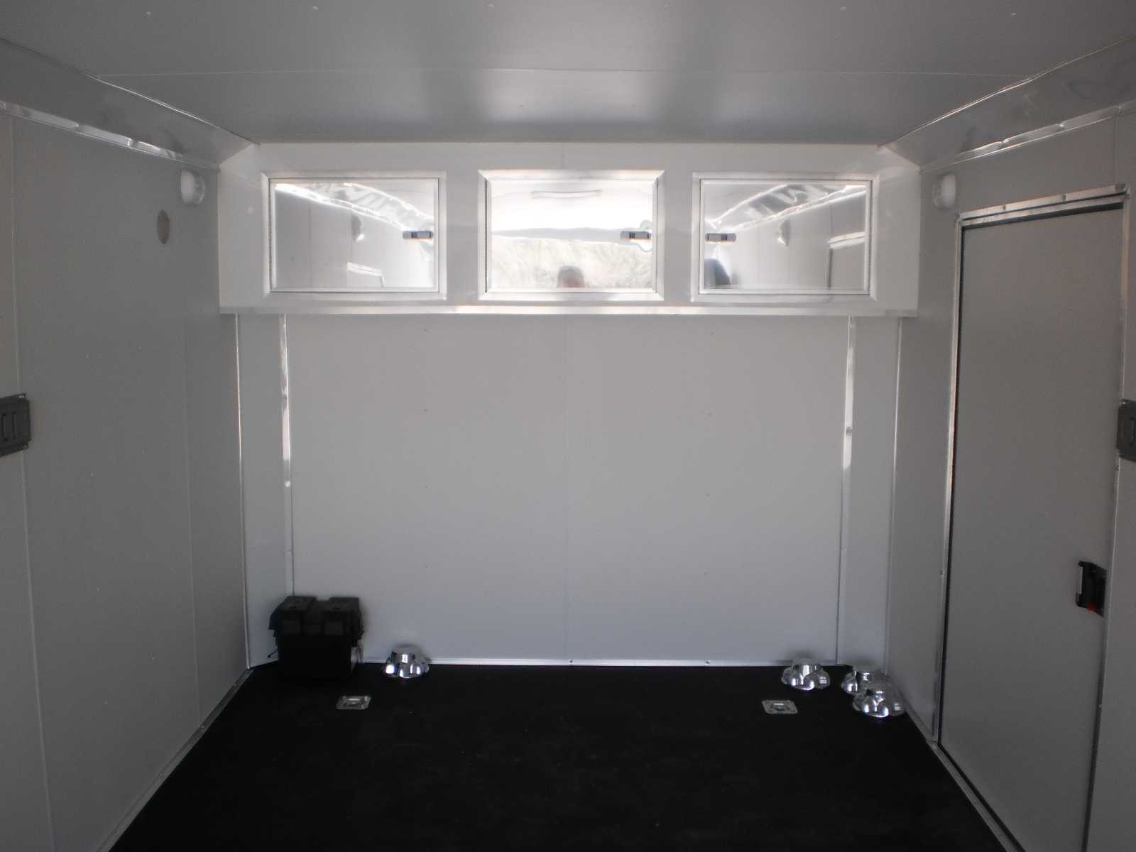 R and p carriages enclosed trailer cabinet options flat front three door cabinet sciox Choice Image