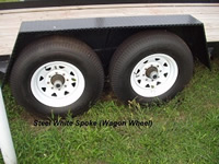 Steel White Wagon Wheels