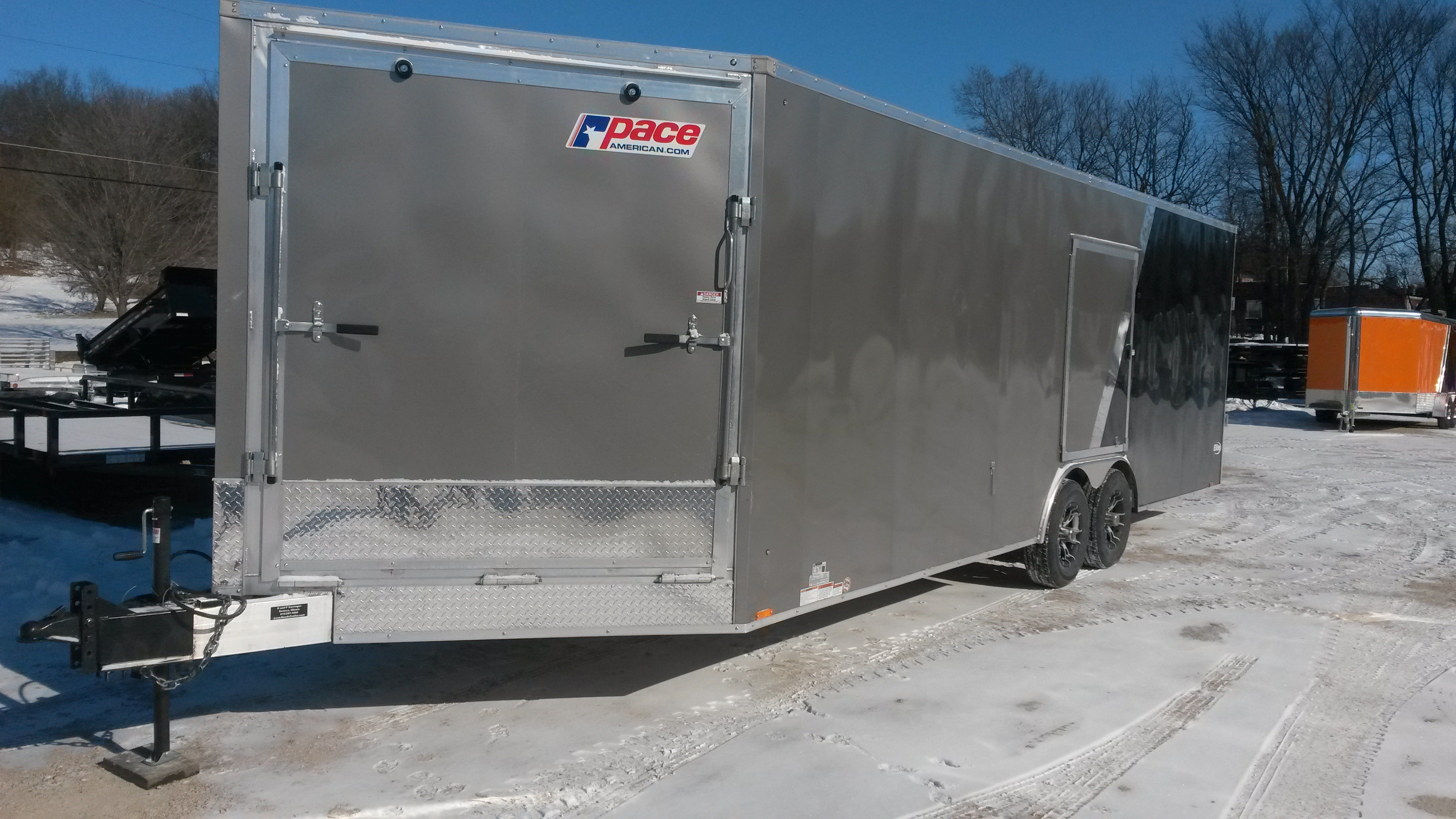 Pace Elite Series Aluminum Cargo Snowmobile Trailers