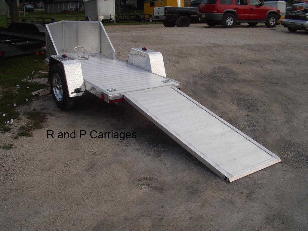R and R All Aluminum OMC1 Open Motorcycle Trailer