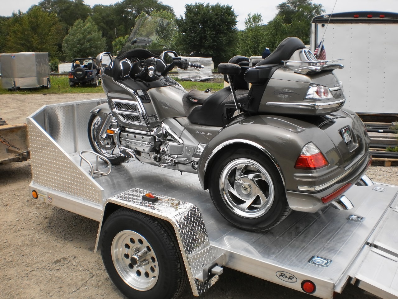 R And R All Aluminum Omc3 Open Motorcycle Trailer