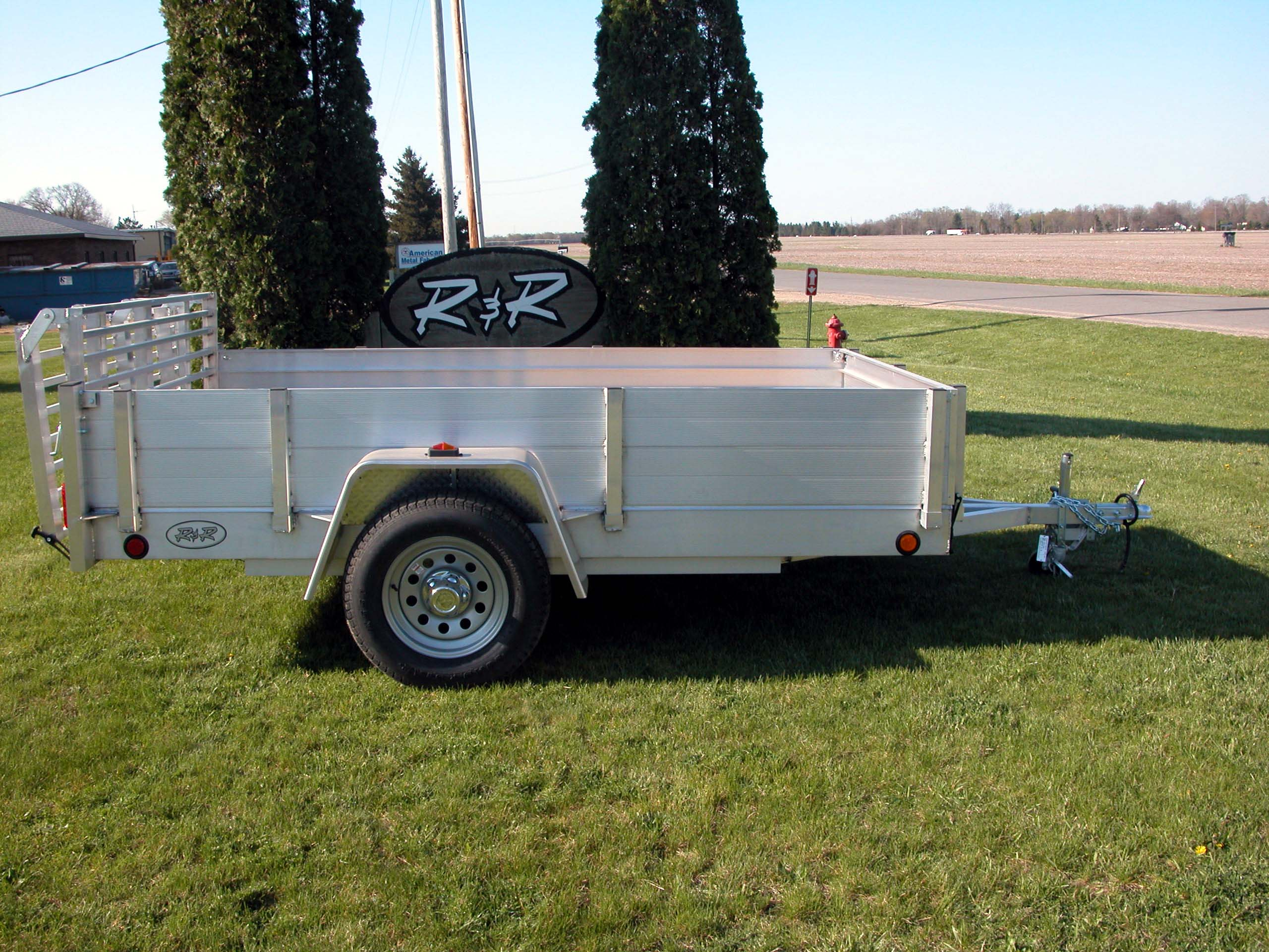 R and p carriages trailers parts service and rentals utility trailer with solid aluminum plank sides sciox Choice Image