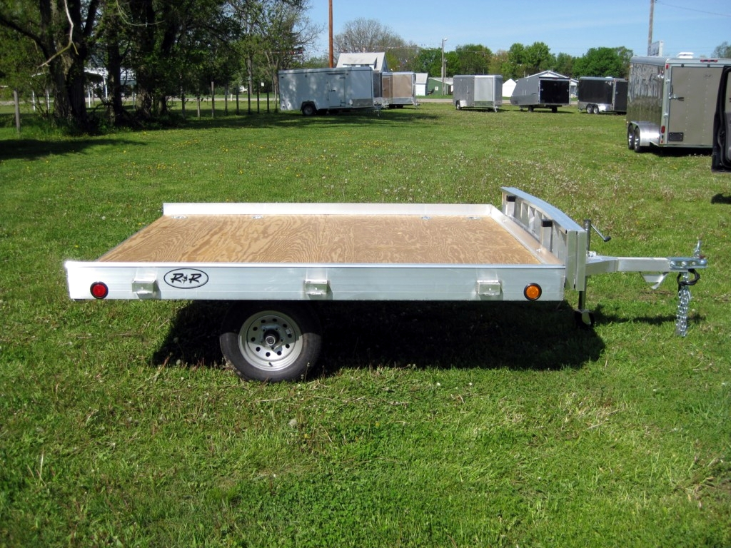 R and R 78QT All Aluminum Quad Trailer