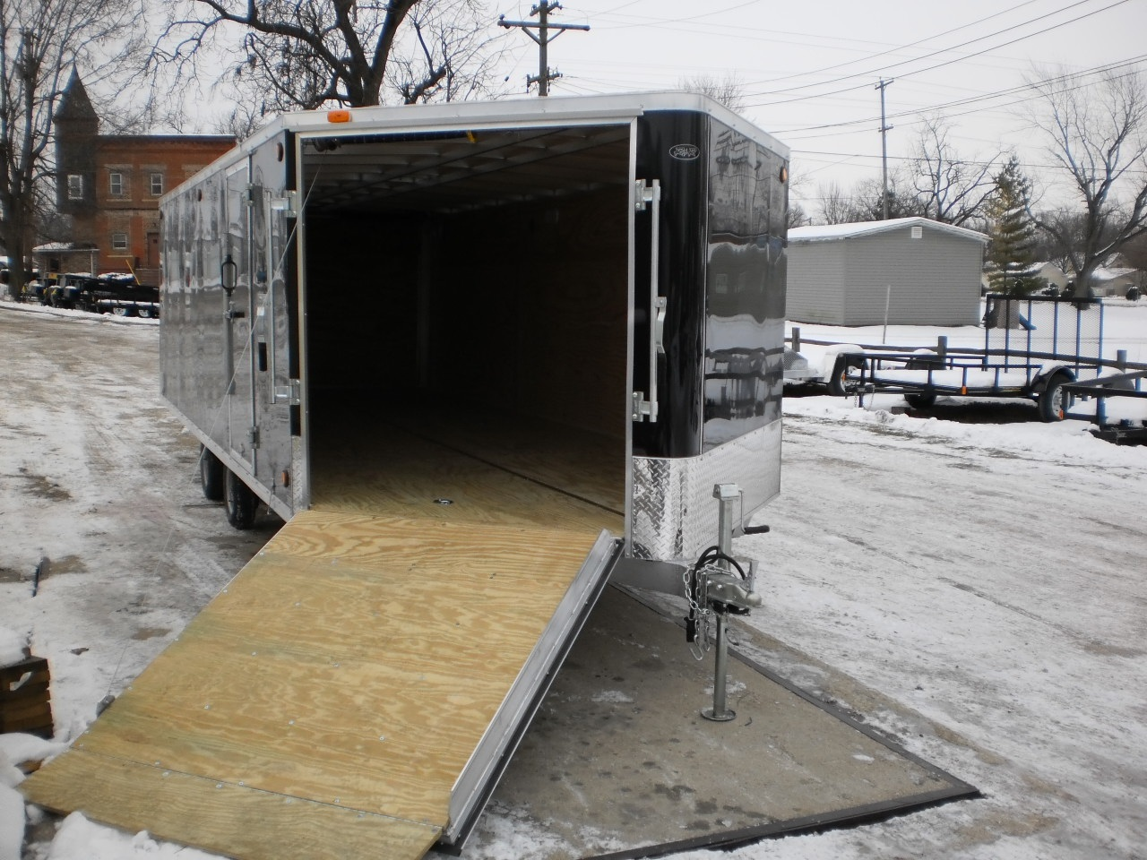 R And R All Aluminum Deckover Snowfire Trailer