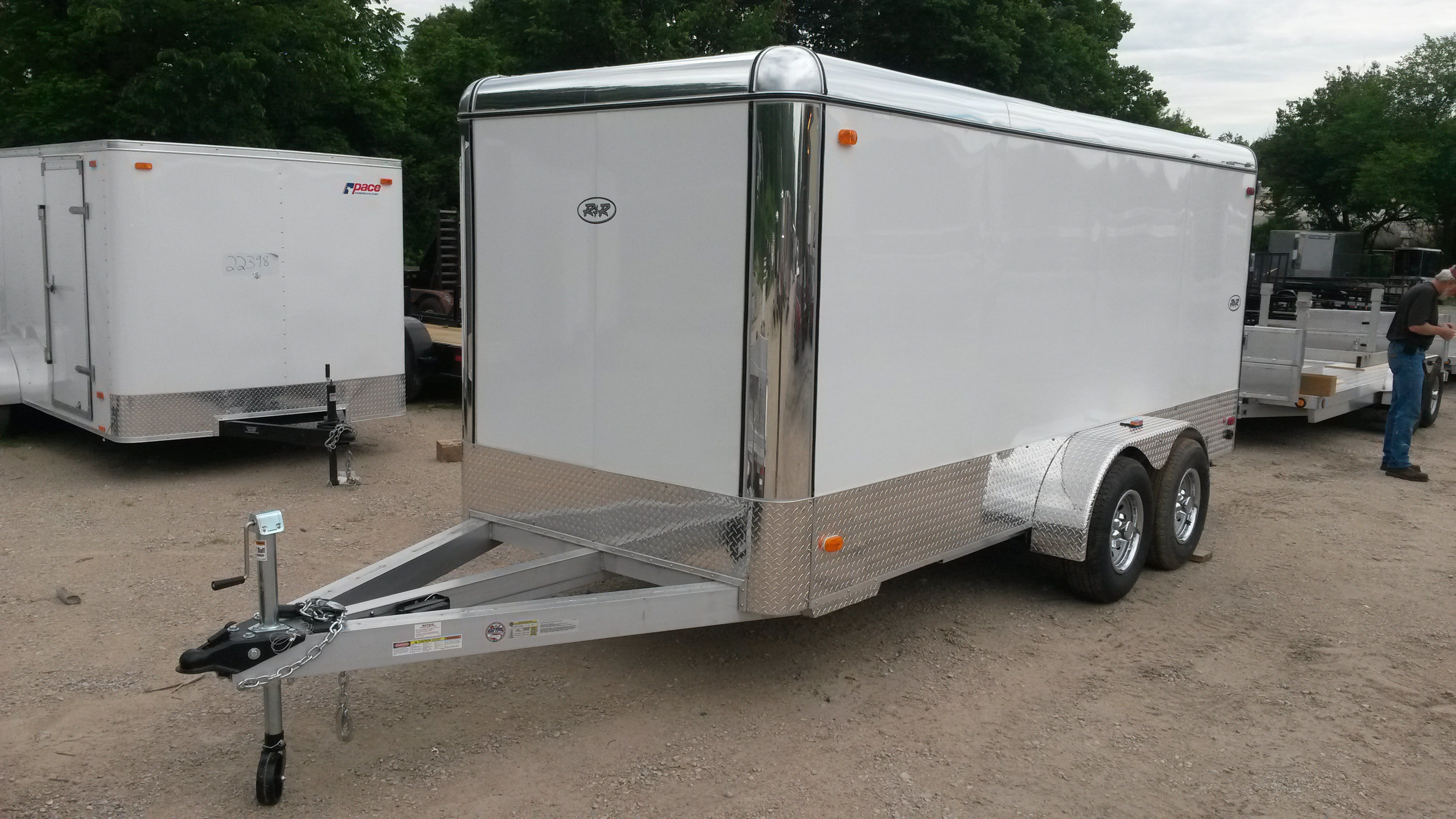 R And R All Aluminum Enclosed Cargo Motorcycle And Atv Trailers