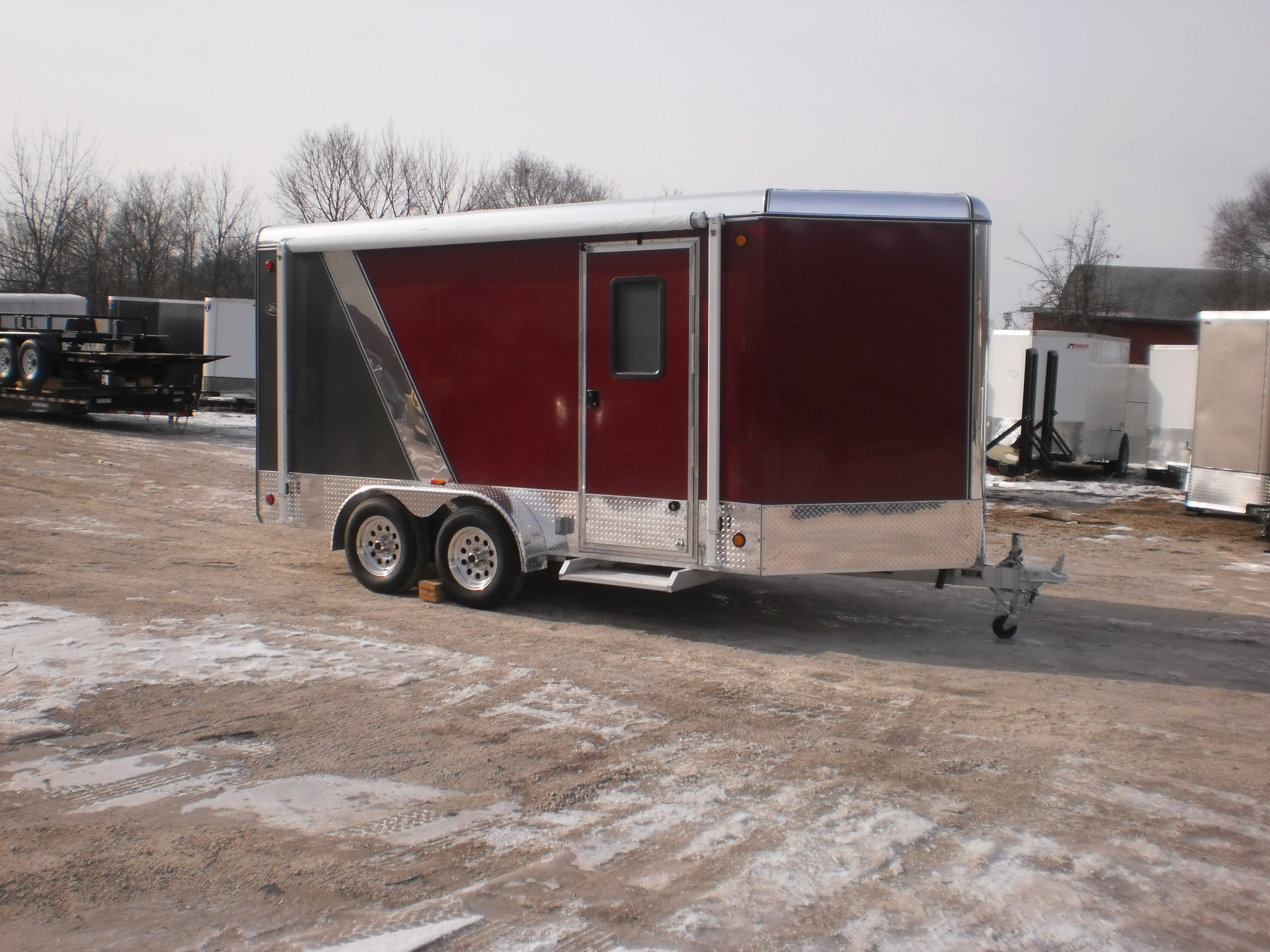 R And R All Aluminum 7 X 14 All Aluminum Cargo Trailer