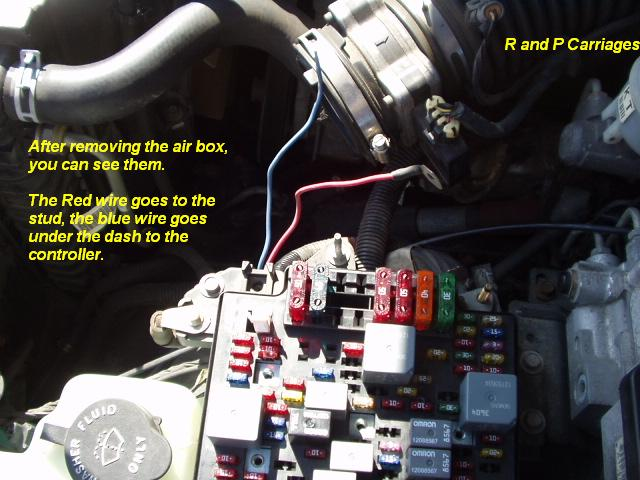 2000 chevy trail blazer braker controller install 2000 chevy blazer fuse box layout connect the red wire to the stud, you will have to buy a metric nut, not sure of the size, to bolt it to the stud in addition, attach a second wire