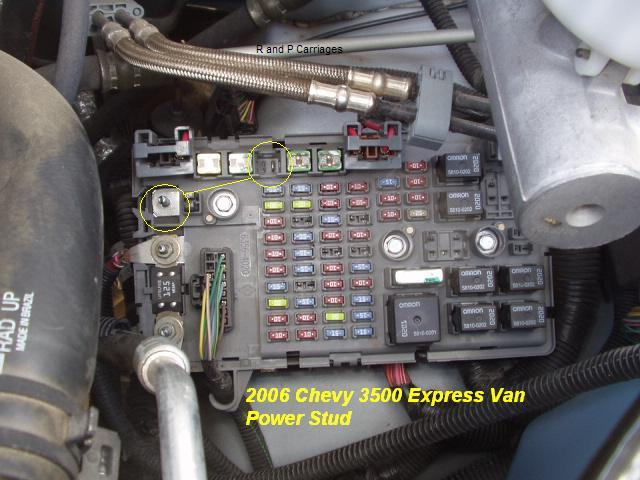 chevy express cargo van fuse box   32 wiring diagram