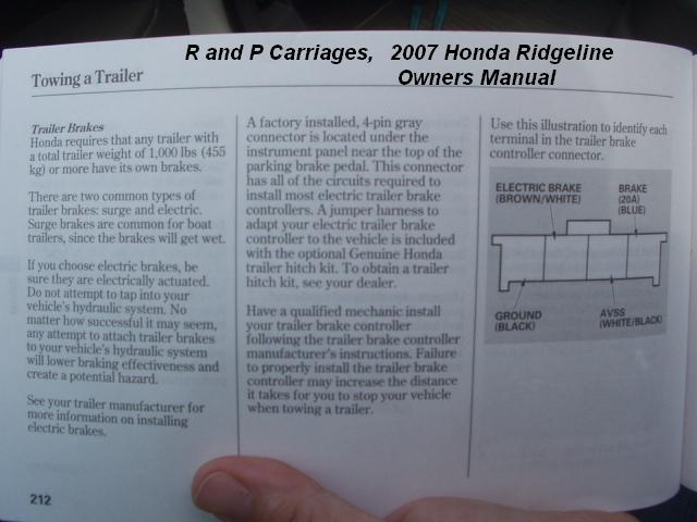 Honda Ridgeline Brake Controller Installation Instructions
