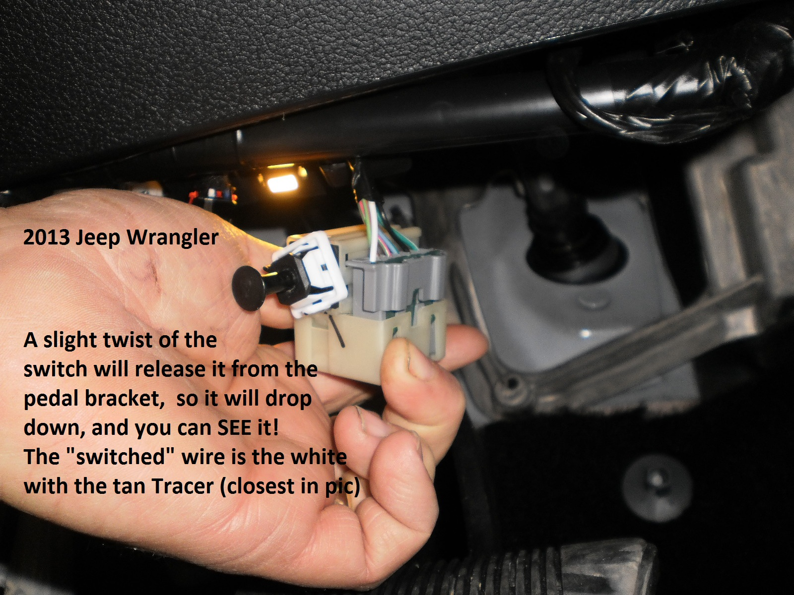 Jeep Yj Brake Wiring Unlimited Access To Diagram Information Trailer Harness Tj 2013 Wrangler Truck Controller Installation Instructions Rh Needatrailer Com