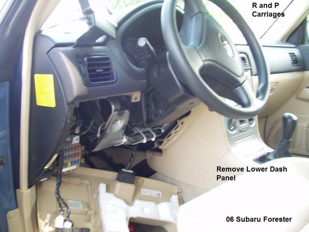 2006 Subaru Forester Brake Controller Installation Instructions Ford Ranger Wiring Install