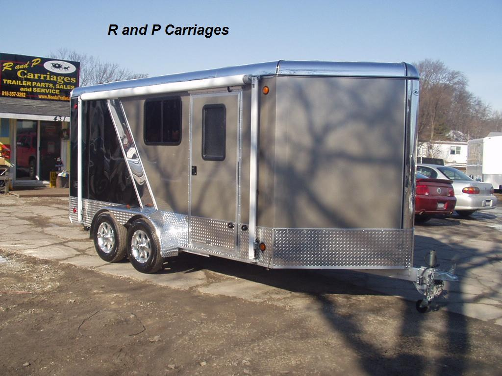 R r all aluminum 7 x 14 vdc black and pewter with windows click on any picture for a larger higher quality image sciox Choice Image