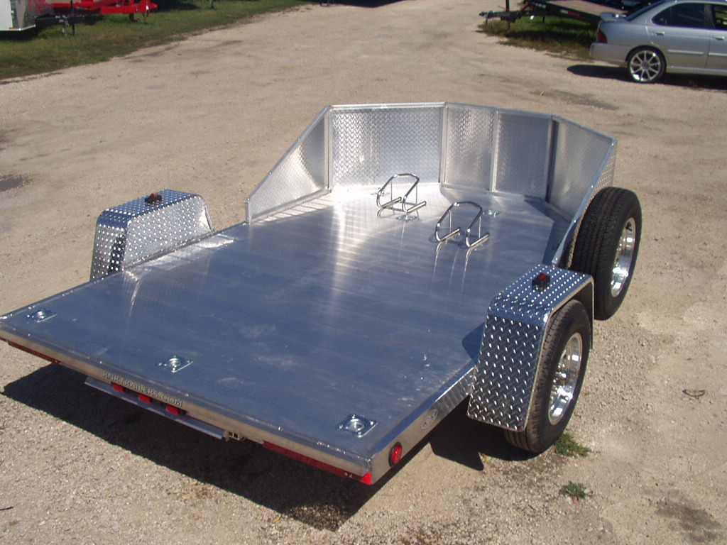 R And R All Aluminum Omc2 Open Motorcycle Trailer