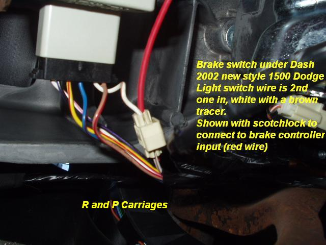 2003 dodge truck brake controller installation instructions