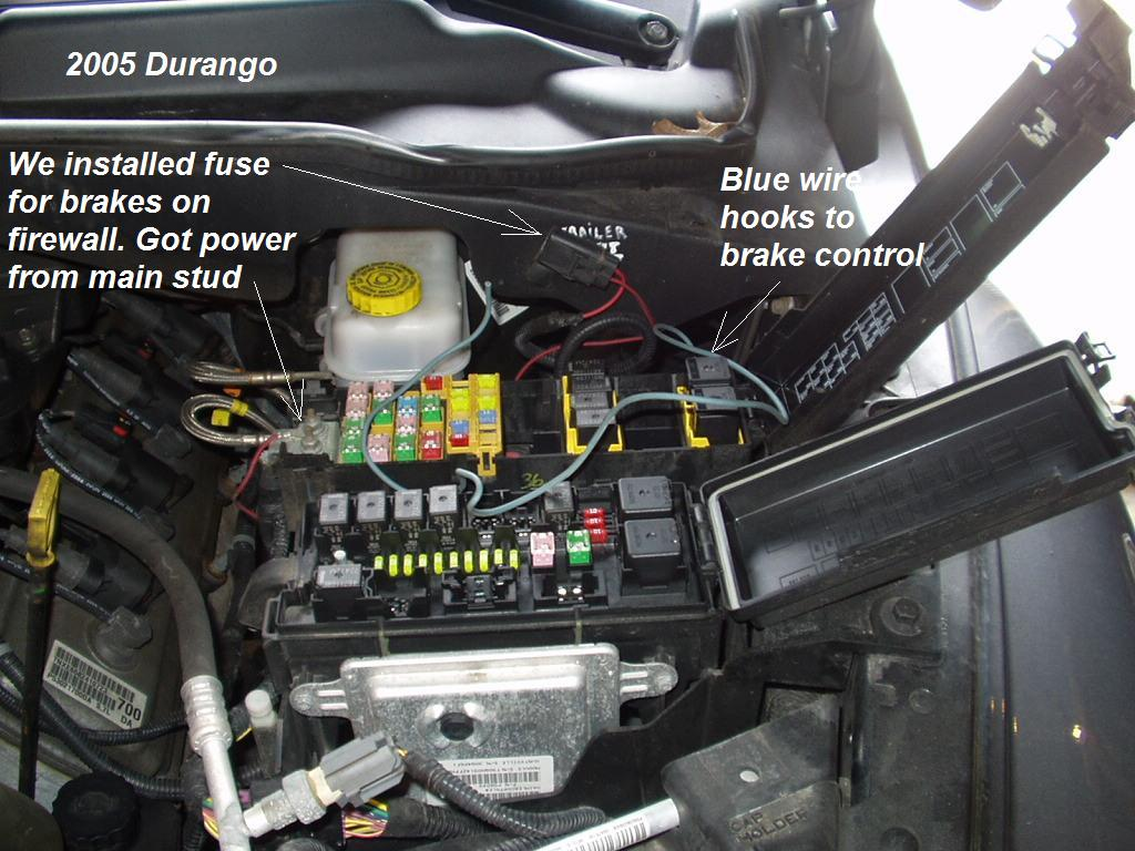Dodge Wire Under Fuse Box 25 Wiring Diagram Images 2011 Silverado Trailer Brake Hemi Durango Controller Install