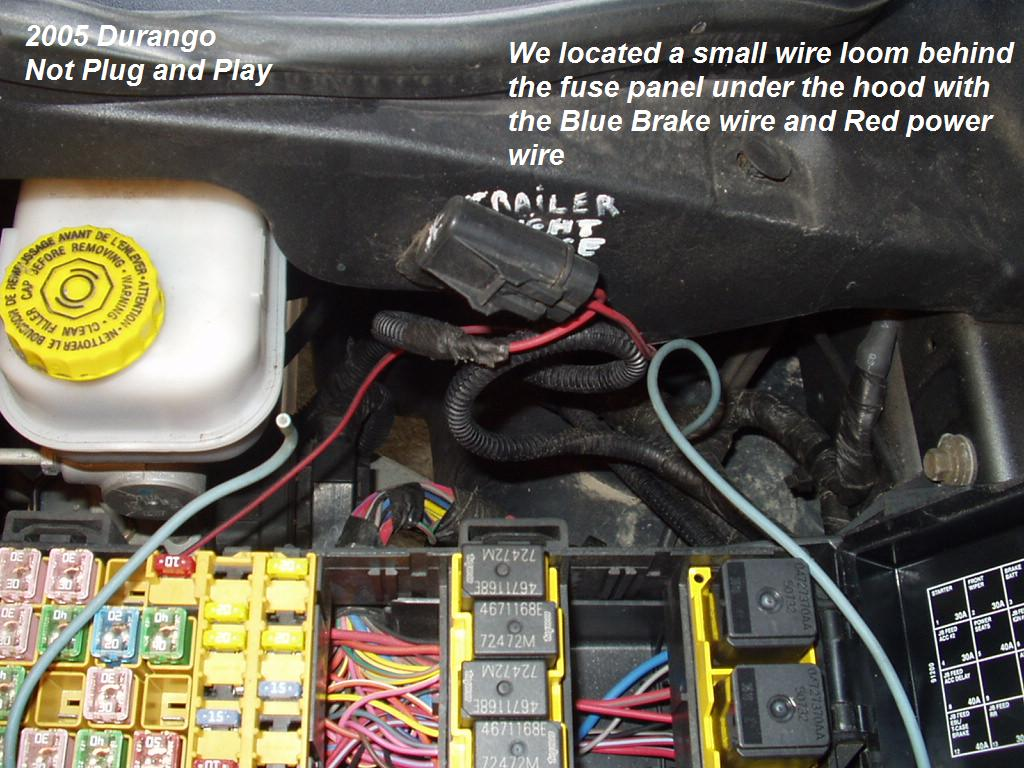 2005 Hemi Dodge Durango Trailer Brake Controller Install Harness Diagram