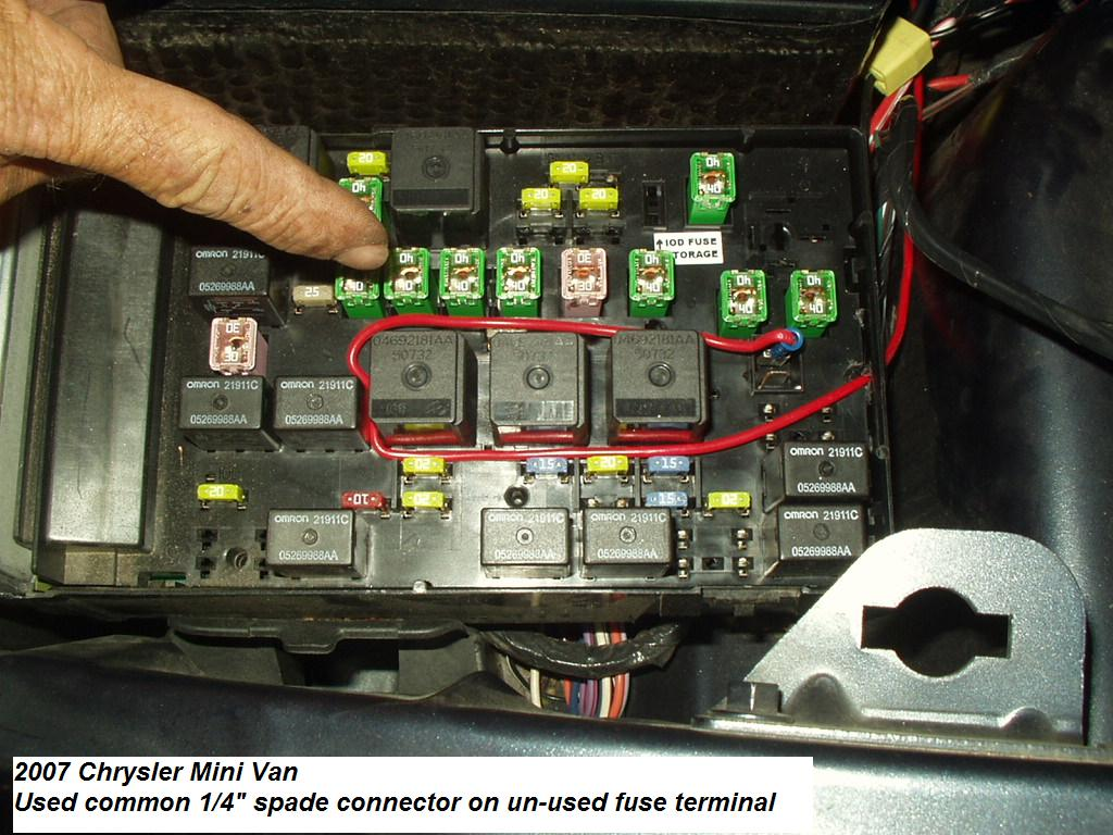 2005 Hemi Dodge Durango Trailer Brake Controller Install Back Fuse Box On 2007 Chrysler 300 Town Country